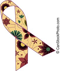 purple ribbon retro