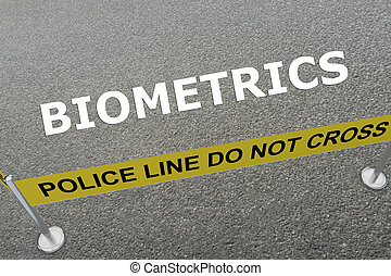 Biometrics concept - Render illustration of Biometrics title...