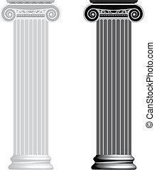 Iónico, columna