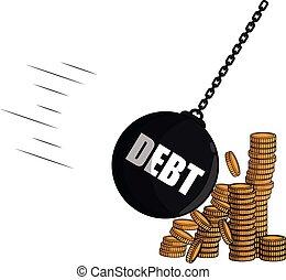 Debt strike coin money