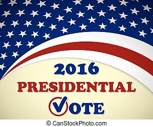 USA 2016 Presidential Election - template