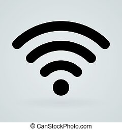 Wireless technology symbol icon - Single universal symbol of...