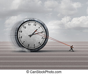 Time Burden - Time burden business concept as a burdened...