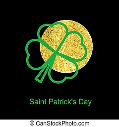 Irish four leaf lucky clover background for Happy St. Patrick's Day
