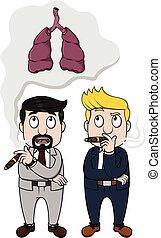 Business man smoke