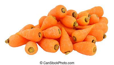 Fresh Raw Chantenay Carrots - Group of raw Chantenay carrots...