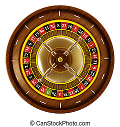 Roulette isolated on white background