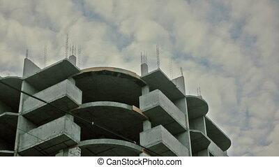 Under construction apartments - concrete house on a...