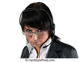Call center operator isolated - remarkable business people...