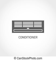 Air condition icon - Conditioning vector icon. Climatic...
