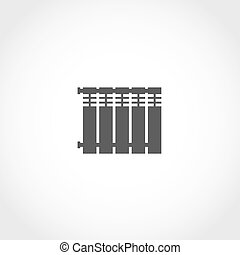 Heat radiator vector icon Climatic equipment vector icon