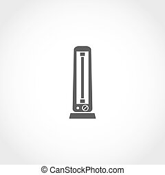 Carbon heater vector icon. Climatic equipment vector icon.