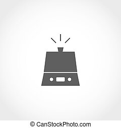 Humidifier vector icon. Climatic equipment vector icon.