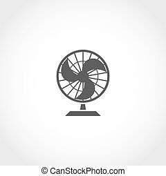 Fan vector icon - Air fan vector icon. Climatic equipment...