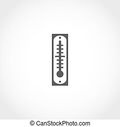 Thermometer vector icon Climatic equipment vector icon