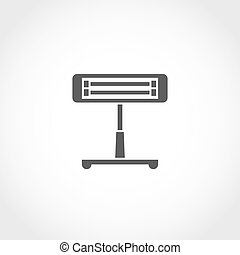 Infrared heater icon - Infrared heater vector icon. Climatic...