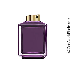 perfume bottle isolated on whte