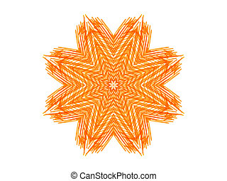 Abstract orange star shape - Abstract orange pattern star...