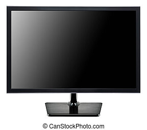 TV flat screen isolated on white