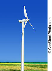 Turbine, grün, Wiese,  Wind