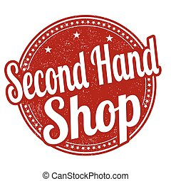 Second hand shop stamp - Second hand shop grunge rubber...