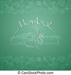 Herbal Remedy theme vector illustration with hand drawn...