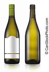 Chardonnay burgundy white wine bottle - Chardonnay burgundy...