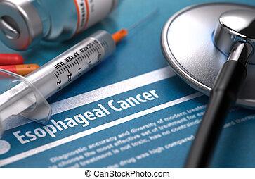 Esophageal Cancer. Medical Concept on Blue Background.