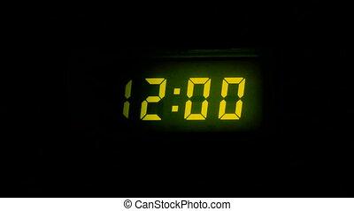 numbers twelve on scoreboard - The digital countdown of...