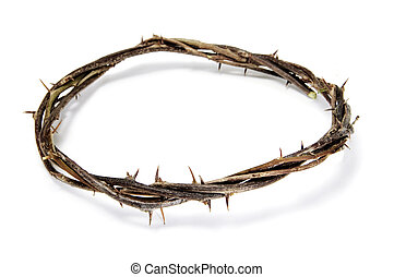 crown of thorns - close up of a representation of the Jesus...