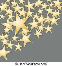 Pattern with gold stars