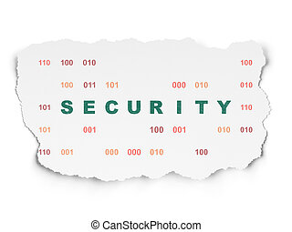 Protection concept: Security on Torn Paper background