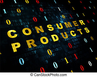 Finance concept: Consumer Products on Digital background