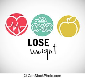 lose weight design - lose weight design, vector illustration...