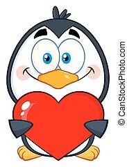 Cute Penguin Cartoon Character