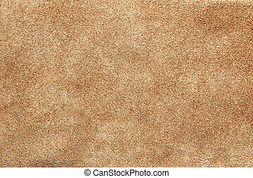 Close up shammy leather texture - Beige suede soft leather...