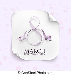 March 8 greeting card Background template for International...