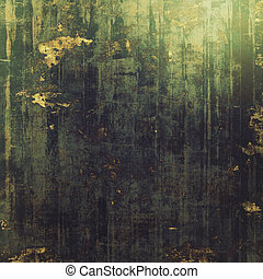 Old vintage background with retro-style elements and different color patterns: brown; green; gray; black