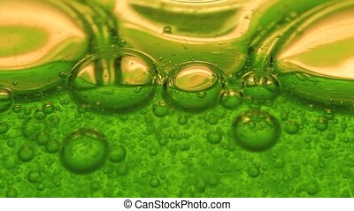 Extreme macro of gel with bubbles.