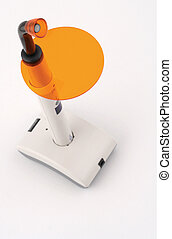 Light curing dentist lamp - Vertical top view of an...