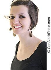 business woman portrait - young business woman portrait...