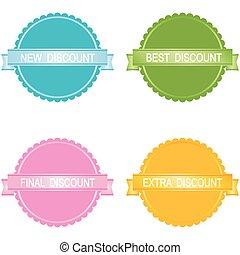 Vector  sale labels