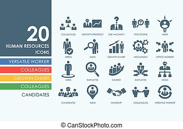 Set of human resources icons