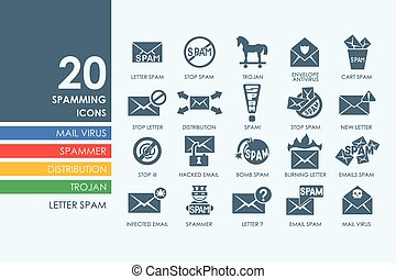 Set of spamming icons