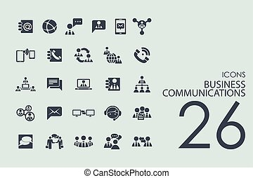 Set of business communications icons - business...