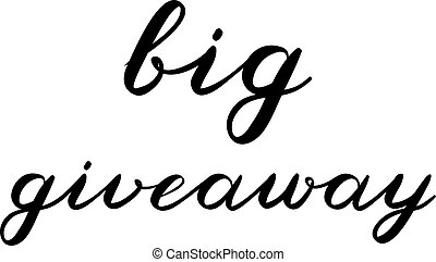 Big giveaway brush lettering. Cute handwriting. - Big...