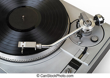 Turntable with vinyl record