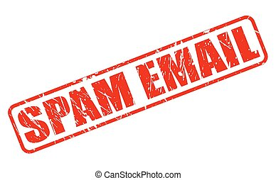 SPAM EMAIL red stamp text