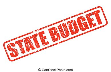 STATE BUDGET red stamp text on white