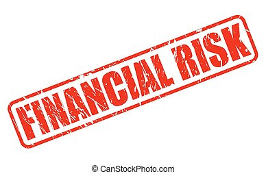 FINANCIAL RISK red stamp text